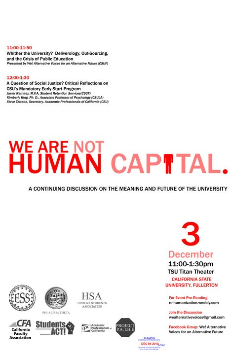 We Are Not Human Capital (Take Two) - Dec. 2010